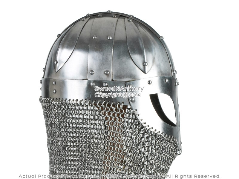 Chain mail Helmet side