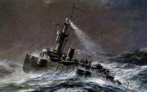 Waves crashing against boat 3